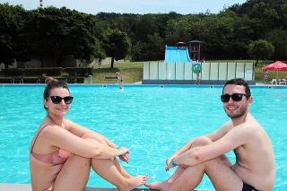 Barbora (27) a Roman (26) si užívali slniečko.