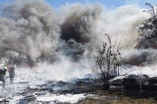 Požiar skládky v obci Kalná nad Hronom