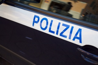Italian police car detail