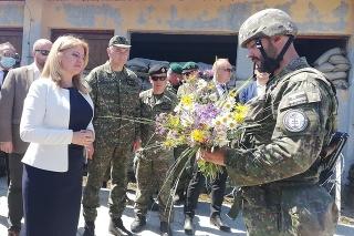 Zuzana Čaputová v centre výcviku Lešť.