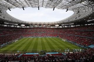 Na snímke štadión Ferenca Puskása po zápase F-skupiny Maďarsko - Portugalsko na ME vo futbale.