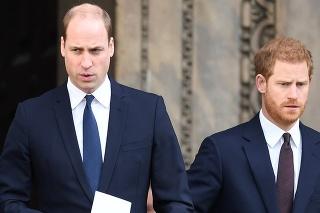 Spor manželiek naštrbil súrodenecký vzťah Harryho s Williamom.