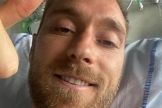 Christian Eriksen sa už usmieva a jeho zdravotný stav sa zlepšil.