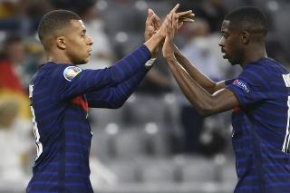 Kylian Mbappé a Ousmane Dembele v drese Francúzska