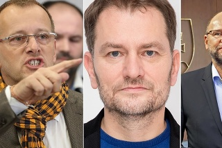 Boris Kollár, Igor Matovič a Richard Sulík.