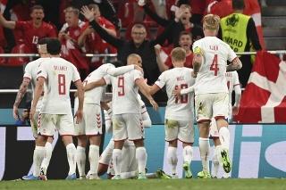 Momentka zo zápasu Dánsko - Rusko.