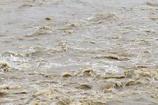 Vysoká hladina Hornádu v Košiciach 18. mája 2021.