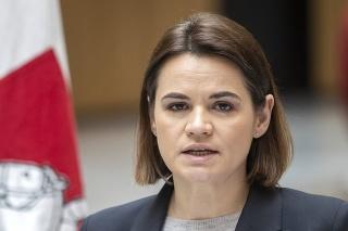 Exilová vodkyňa bieloruskej opozície Sviatlana Cichanovská