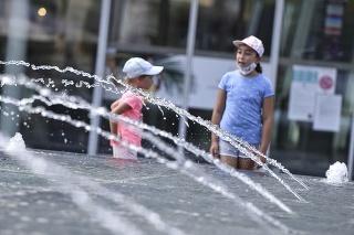 Horúce počasie v Bratislave.