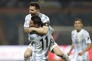 Lionel Messi a Angel di Maria