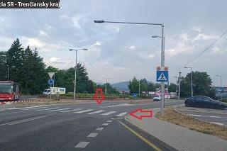 Priechod pre chodcov sa nachádza na ulici Soblahovskej v Trenčíne pod sídliskom Juh.