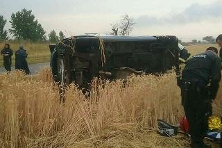 Nehoda dvoch vozidiel.