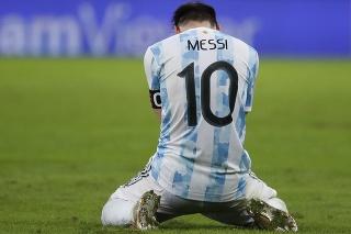 Argentínsky hráč Lionel Messi reaguje po výhre nad Brazíliou 1:0 vo finále futbalového zápasu Argentína - Brazília na juhoamerickom šampionáte Copa America v Rio de Janeiru.