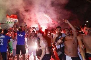 Pätnásť zranených si v noci na pondelok vyžiadali oslavy triumfu Talianska vo finále futbalových ME 2020 nad Anglickom v jedenástkovom rozstrele.