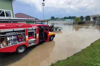 V samotnom meste Stará Ľubovňa sa po prudkej prietrži mračien vylial Jarabinský potok.