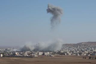 Bomb in Kobane in Syria