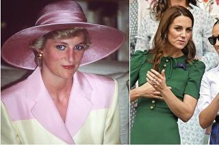 Princezná Diana a vojvodkyňa Kate s vojvodkyňou Meghan.