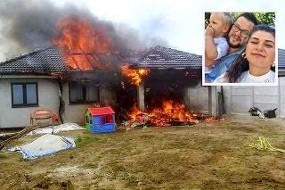 Mladej rodinke sa rozplynul sen: Dom ľahol popolom v priebehu niekoľkých minút.