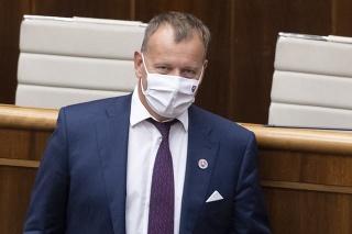 Na snímke predseda parlamentu Boris Kollár (Sme rodina).