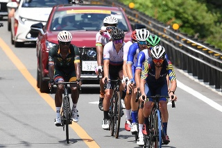 Na snímke slovenský reprezenant v cyklistike Juraj Sagan v pretekoch s hromadným štartom počas XXXII. letných olympijských hier v Tokiu.