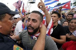 Protesty proti vláde na Kube.