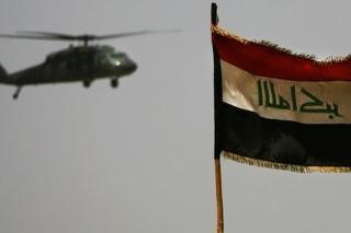 Helikoptéra americkej armády neďaleko Bagdadu.