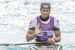 Na snímke slovenský vodný slalomár Matej Beňuš v cieli po finálovej jazde v C1 vo vodnom slalome na XXXII. letných olympijských hier v Tokiu v pondelok 26. júla 2021.
