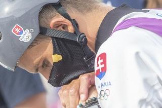 Na snímke slovenský vodný slalomár Matej Beňuš v cieli po finálovej jazde v C1 vo vodnom slalome.