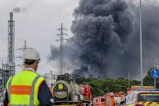 Výbuch v