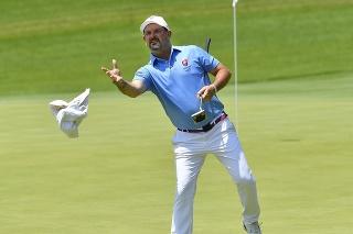 Na snímke slovenský golfista Rory Sabbatini vo štvrtom kole turnaja mužov počas XXXII. letných olympijských hier v Tokiu