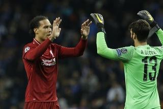 Virgil van Dijk a Alisson Becker, FC Liverpool