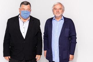 profesor Vladimír Krčméry a profesor Jozef Hrušovský