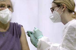 Očkovanie vakcínou Moderna v Berlíne.
