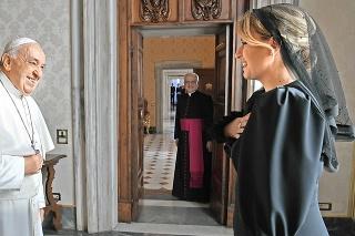 Prezidentka Zuzana Čaputová na stretnutí s Františokom vo Vatikáne.