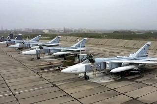 Ruské vojenské lietadlá Su-24.