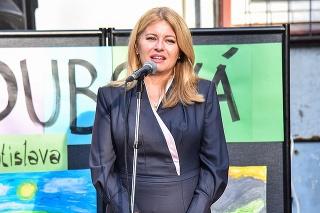 Zuzana Čaputová počas otvorenia nového školského roka na Základnej škole Dubová 2. septembra 2021 v Bratislave.