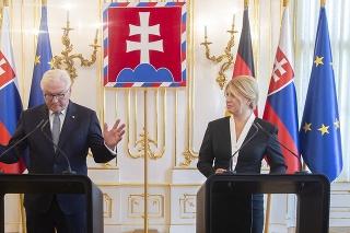 Prezidentka SR Zuzana Čaputová a nemecký prezident Frank-Walter Steinmeier