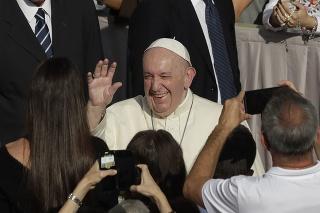 Pápež František počas generálnej audiencie.