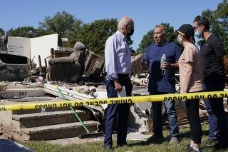 Americký prezident Joe Biden navštívil miesta, ktoré zničil hurikán Ida.
