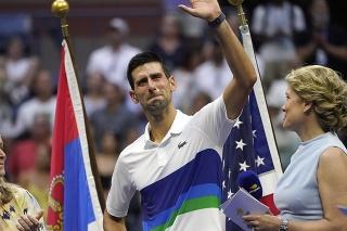 Srbský tenista Novak Djokovič sa lúči s divákmi v New Yorku