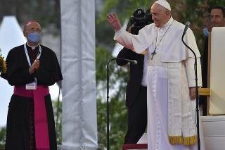 Pápež navštívil košické sídlisko Luník IX.