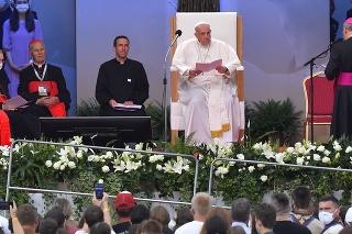 Pápež František počas návštevy Košíc.