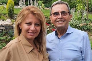 Prezidentka zverejnila fotku s otcom Štefanom.