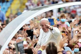 Pápež František navštívil Prešov i Košice.