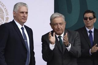 Kubánsky prezident Miquel Díaz-Canel a mexický prezident Andrés Manuel López Obrador.