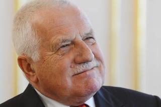 Odchádzajúci český prezident Václav Klaus počas dvojdňovej návštevy Slovenska.