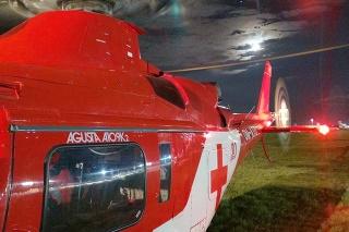 Trenčianska posádka leteckých záchranárov bola požiadaná o urgentný let.
