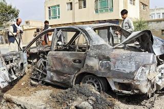 Vozidlo teroristu, ktoré zničil americký dron.