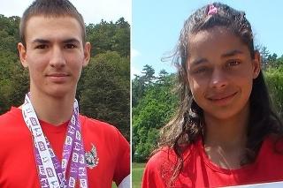 Úspešný moldavský atlét András Takács a Annamária Horváthová.