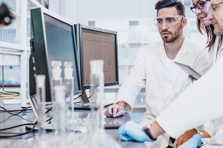 Scientist Working in The Laboratory ++Screenshot is custom made for shooting++